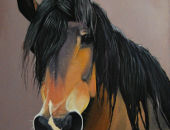 Horse painting - 84x60cm Heavy Draught