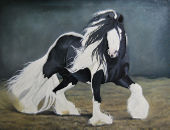 Horse painting - 102x75cm Gypsy Vanner
